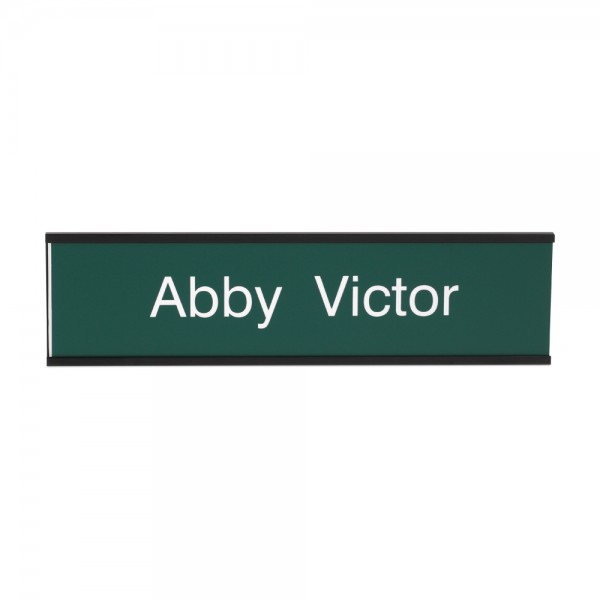 "Custom Engraved Sign- Traditional 2"" x 8"""