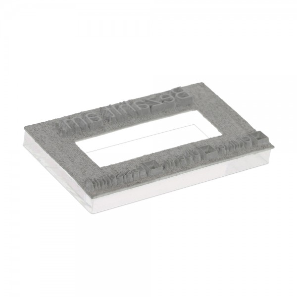 """Textplate for Trodat Printy Dater 4726 1 1/2 x 3"""" - 3+3 lines"""